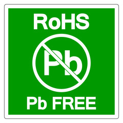 RoHS Pb Free Symbol Sign, Vector Illustration, Isolate On White Background Label. EPS10