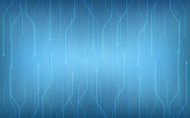 Abstract technology circuit board pattern on dark blue color background