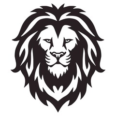 Lion Head Logo Vector Template Illustration Design Mascot