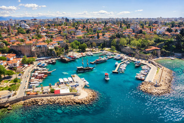 Antalya Harbor, Turkey, taken in April 2019\r\n' taken in hdr