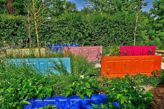 Chaumont sur Loire; France - june 29 2019: the international festival of gardens