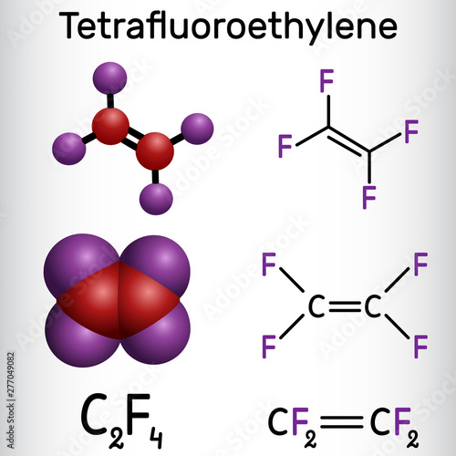 Tetrafluoroethylene or TFE molecule , is a monomer of