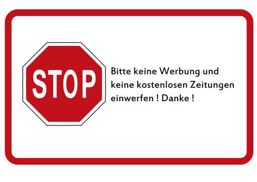 Schild: Werbeverbot