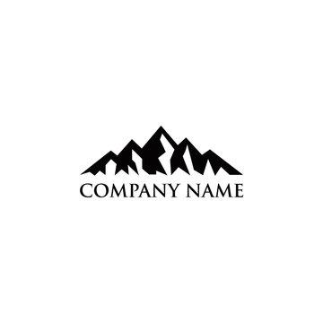 modern mountain logo design