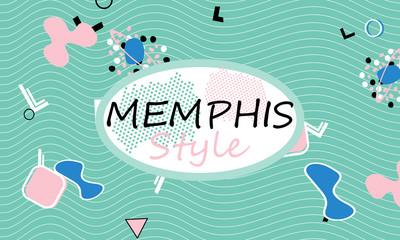 Memphis. 90s pattern. Geometric shapes