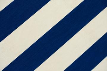 Stoff Markise blau weiß