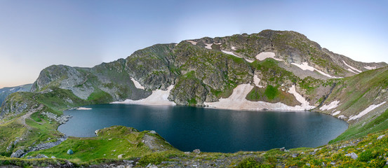 Fototapete - The eye lake, one of the seven rila lakes in Bulgaria