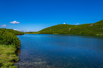 Wall Mural - The lower lake, one of the seven rila lakes in Bulgaria