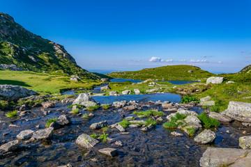 Fototapete - mountain creek at rila mountains in Bulgaria