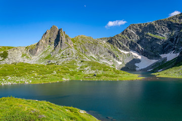 Wall Mural - The Twin lake, one of the seven rila lakes in Bulgaria