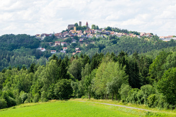 Panorama of Leuchtenberg with castle in Bavaria Germany