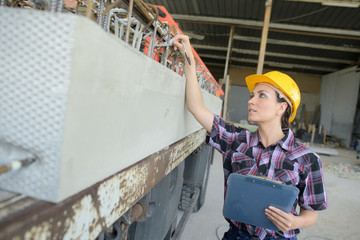 female engineer pointing at something