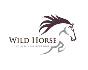 Creative Horse Elegant Logo Symbol Design Illustration Vector for Company