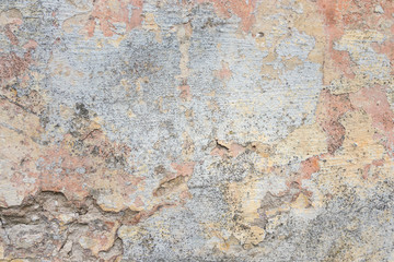 Papiers peints Graffiti Textured grunge background. Old plastered wall with a multilayer cracked coating. Grunge texture with a deep pattern on whitewashed wall