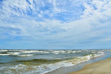 plaża i morze, piękny krajobraz, Polska