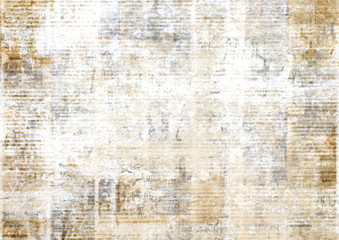 Foto op Canvas Retro Old vintage grunge newspaper paper texture background.