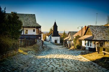 Church in small Hungarian village Holloko, Hungary