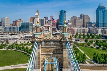 Aerial Photo of the Cincinnati Ohio Skyline