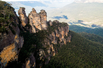 Three sisters rock in Blue Mountains National Park (Sydney, New South Wales, Australia)