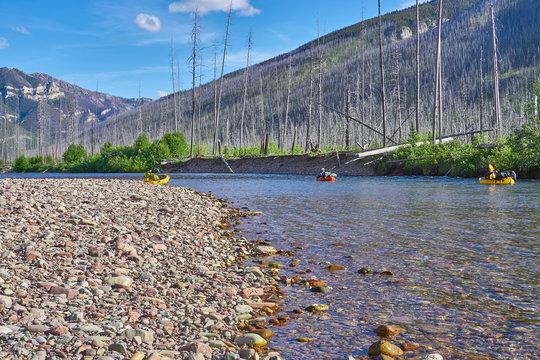 Paddling in Montana