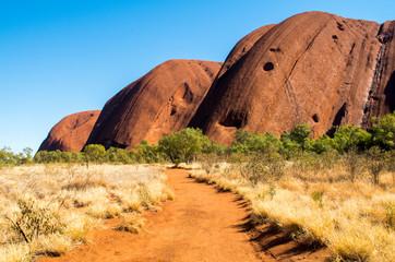 Uluru Base Walk - beautiful, colorful walk around the aboriginal red rock - Uluru (Uluru-Kata Tjuta Nation Park), Australia, Northern Territory
