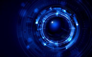 イラスト素材: 脳と人工知能イメージ素材青ブルー、AI