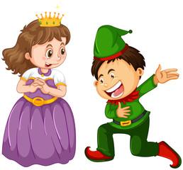 Papiers peints Jeunes enfants Male and female in fantasy costume character
