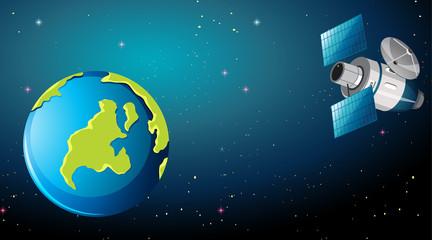 Satellite in space scene