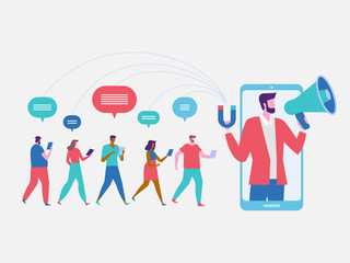 Influencer marketing. Potential product buyers
