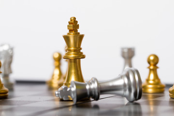 Chess and chess pieces, competition and confrontation