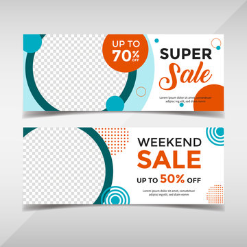 Sale banner collection. Banner template for fashion sale, business promotion, social media post, etc. Vol.65