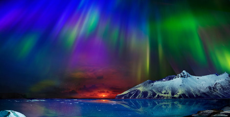 Printed kitchen splashbacks Northern lights incredible northern lights
