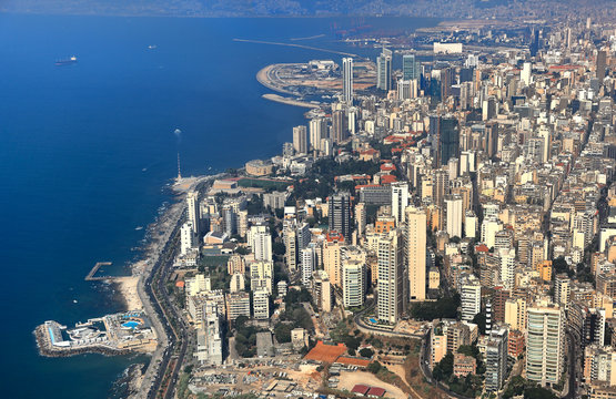 Beirut, Aerial View of the Lebanese Capital