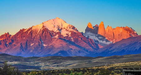 scenic view to Fitz Roy mountain in Argentina, Patagonia Wall mural