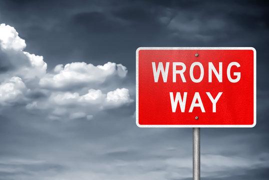 Wrong Way - traffic sign information