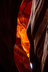 Fotorolgordijn Rood paars Antelope Canyon, near Page, Arizona, USA. Sandstone formations on Navajo nation