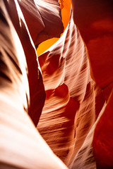Deurstickers Rood paars Antelope Canyon, near Page, Arizona, USA. Sandstone formations on Navajo nation