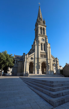 Church located in the city of Argenteuil and named Basilique Saint Denys. France.