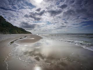 Fototapeta Morze sztorm i wiatr - Dziwnówek Dziwnowo Klif obraz