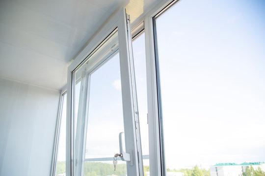 Plastic Windows and mosquito net. Use of plastic Windows.