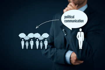Political communication impact and populism threat concept