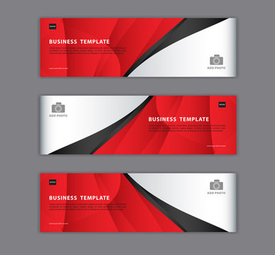 Red banner design template vector illustration, Geometric, polygonal Abstract background, texture, advertisement layout. web page. header for website. Graphic for billboard, gift voucher, card.