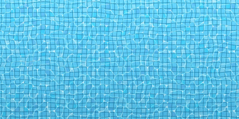 The surface of the water in the pool, top view. Vector blue summer background (size 2:1). EPS 10.