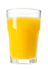 Wall Mural - glass of orange juice isolated on white background