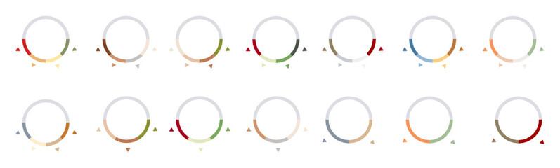 Fototapeta Kołowy wykres flat design obraz