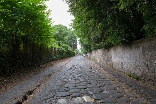 Panoramic view of Appian Way (Via Appia)