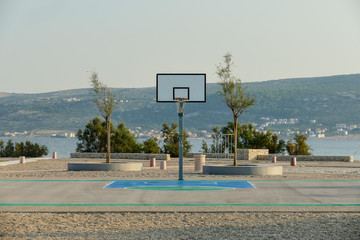 basketball hoop and net, digital photo picture as a background