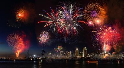 California Fireworks display celebrating 4th of July