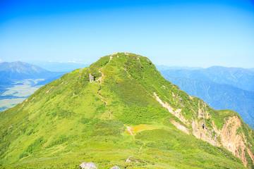 夏の燧ヶ岳 俎嵓から望む柴安嵓 福島県檜枝岐村