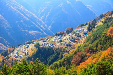 秋の下栗の里 長野県飯田市 遠山郷